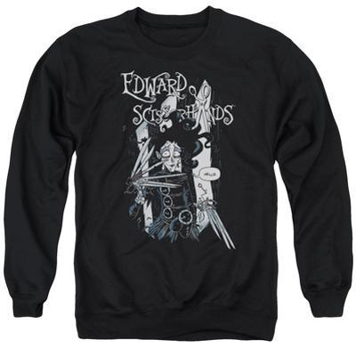 Crewneck Sweatshirt: Edward Scissorhands- Hello
