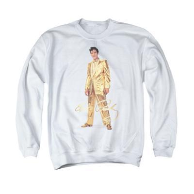 Crewneck Sweatshirt: Elvis Presley - Gold Lame Suit