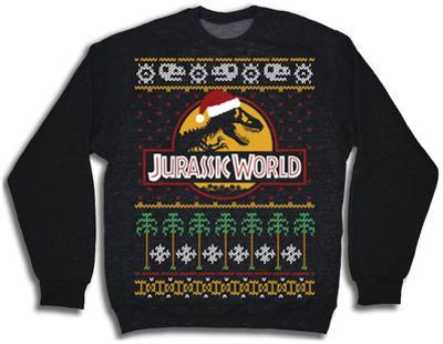 Crewneck Sweatshirt: Jurassic World- Ugly Xmas Sweater
