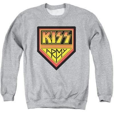 Crewneck Sweatshirt: Kiss - Army Logo