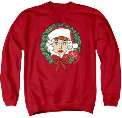 Crewneck Sweatshirt: Lucy- Wreath