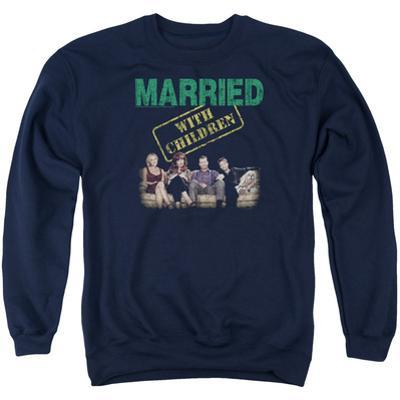 Crewneck Sweatshirt: Married With Children- Vintage Bundy Couch Time