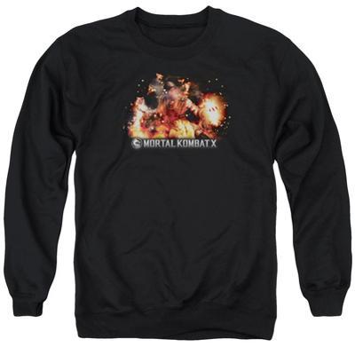 Crewneck Sweatshirt: Mortal Kombat X- Scorpio Flame Attack