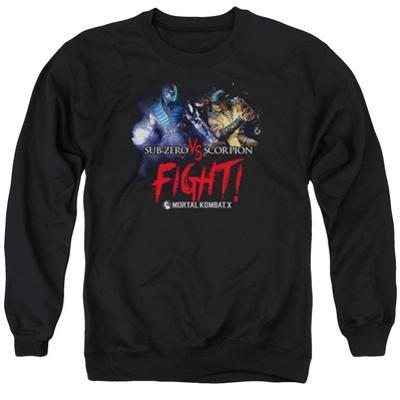 Crewneck Sweatshirt: Mortal Kombat X- Sub-Zero Vs. Scorpion