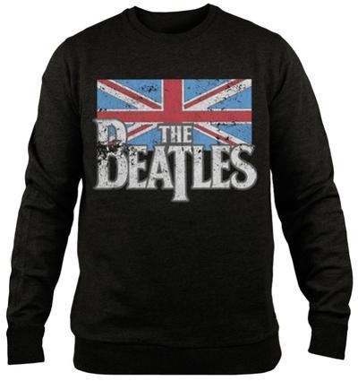 Crewneck Sweatshirt: The Beatles - Distressed British Flag