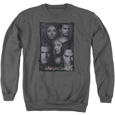 Crewneck Sweatshirt: Vampire Diaries- Character Collage Stamp
