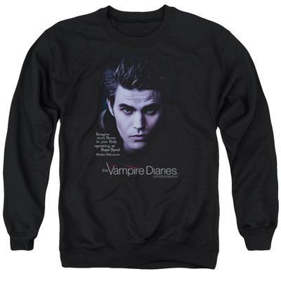 Crewneck Sweatshirt: Vampire Diaries- Stefan Every Sense At Super Speed
