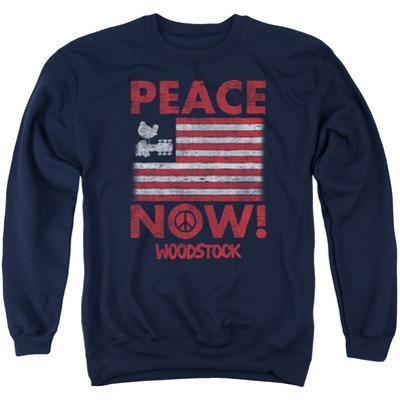 Crewneck Sweatshirt: Woodstock- Peace Now