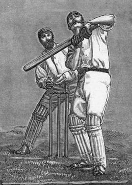 Cricket a Batsman Dealing with a Full Pitch