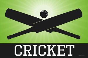 Cricket Green Sports Poster Print