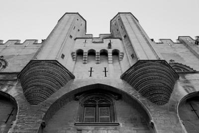 Black and White Image, Popes Palace in Avignon, Provence, France by Crisferra