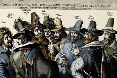 The Gunpowder Plotters conspiring