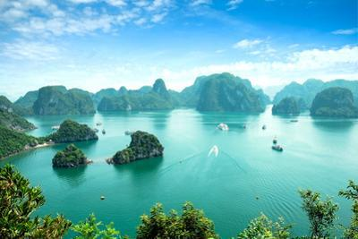 Halong Bay in Vietnam. Unesco World Heritage Site. by cristaltran
