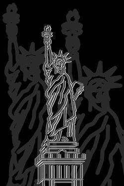 Stature of Liberty Night by Cristian Mielu