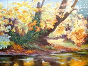 Autumn on the Darent, 1999 by Cristiana Angelini