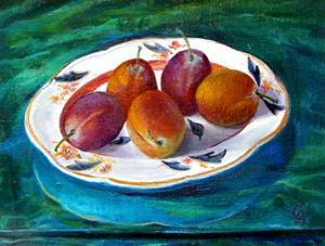 Fruit on a Staffordshire Dish, 2013 by Cristiana Angelini