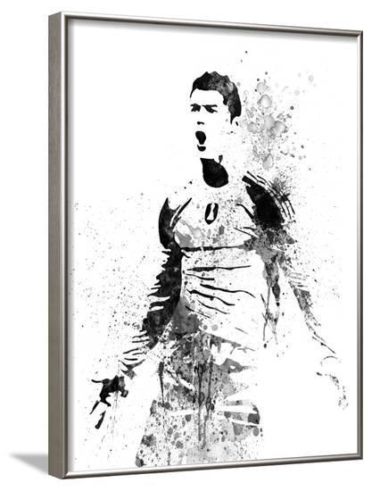 Cristiano Ronaldo Watercolor I-Jack Hunter-Framed Art Print