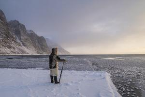 An Inuit Hunter on the Sea Ice by Cristina Mittermeier