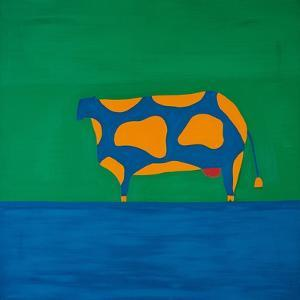 Cow,1998,(oil on linen) by Cristina Rodriguez