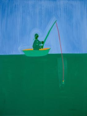 Fisherman;1998,(oil on linen) by Cristina Rodriguez