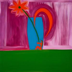 Flowervase,1998,(oil on linen) by Cristina Rodriguez