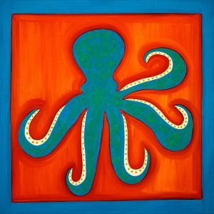 Octopus;1998,(oil on linen) by Cristina Rodriguez