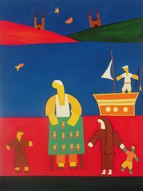 Selling Fish at the Bosphorus, 2003 by Cristina Rodriguez