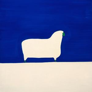 Sheep,1998,(oil on linen) by Cristina Rodriguez