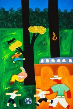The park, 2001,(oil on linen) by Cristina Rodriguez