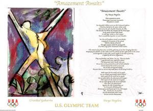 Maya Angelou Amazement Awaits U.S. Olympic Team by Cristobal Gabarron
