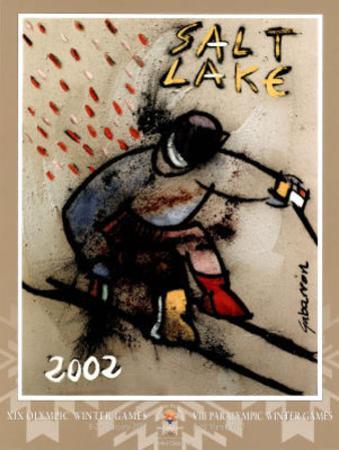 Salt Lake City 2002 Down Hill Skier Olympics by Cristobal Gabarron