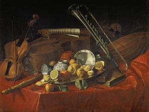Stillleben Mit Musik-Instrumenten by Cristoforo Munari