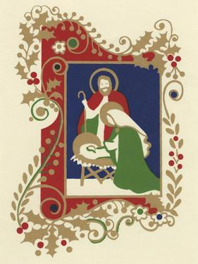 Manger Scene with Border by Crockett Collection
