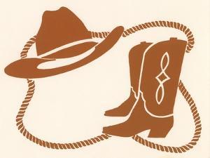 Rodeo, Cowboy Boots, Hat and Rope by Crockett Collection