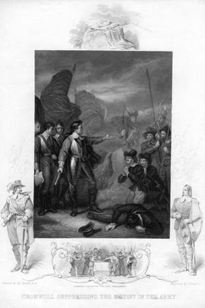 Cromwell Suppressing the Mutiny in the Army, C1640S by J Rogers