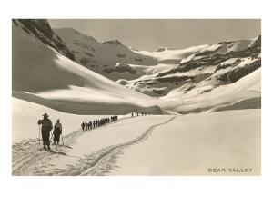 Cross Country Skiers in Bear Valley