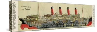 Cross-Section of 'Aquitania' Steamship