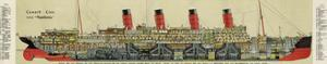 Cross-Section of 'Aquitania' Steamship