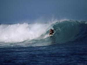 Crouching Surfer