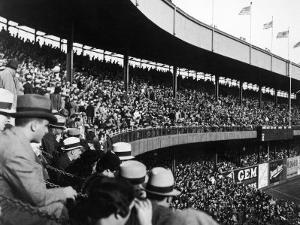 Crowd Attending a New York Yankee Baseball Game at Yankee Stadium