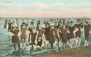 Crowds of Vintage Bathers