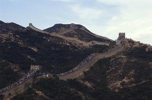 Crowds on the Great Wall of China