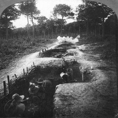 Clearing the Remaining Germans Out of the Trenches by Hand Grenages, 1900s