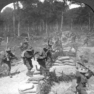 First Line Gurkhas Storming and Capturing a German Trench, World War I, 1914-1918 by Crown