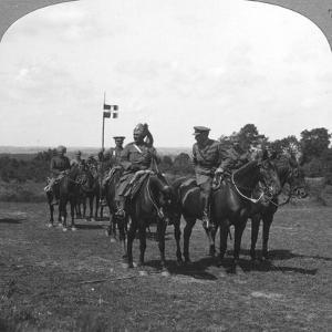 General Rimington, Sir Pertab Singh and the Rajah of Rutlam, France, 1900s by Crown