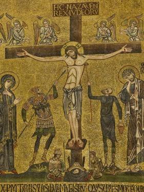 Crucifixion. Central dome. Arch. St. Mark's Basilica, Venice, Italy 10th c.