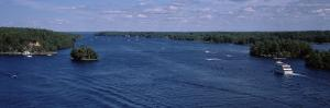 Cruise Boat in a River, St. Lawrence River, Thousand Islands, Ontario, Canada