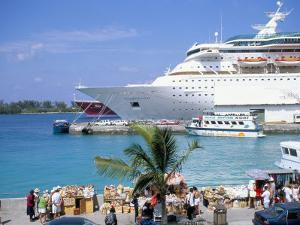 Cruise Ship, Dockside, Nassau, Bahamas, West Indies, Central America by J Lightfoot
