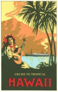Cruise to Tropical Hawaii, Woman Playing Guitar
