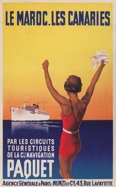 Cruising the East Atlantic, Travel Poster